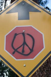 Stop Peace Ahead? Peace Stops Ahead?